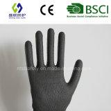 Покрынная PU перчатка безопасности работы отрезока упорная (PE1001)
