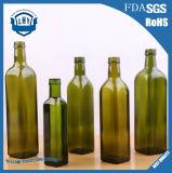 bottiglia di vetro verde scuro rotonda dell'olio da cucina della bottiglia dell'olio di oliva di 250ml 500ml 750ml /Square