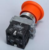 赤いおよび緑色のきのこの金属のタイプ押しボタンスイッチ