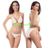 Bikini van het Koord van Halter van de Jacquard van dames de Sexy