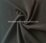 Casualwearファブリック(HD2118401)のための黒の100%年のポリエステルによって編まれる粗紡