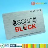 RFID преграждая втулку карточки блокатора защищают данные по Info кредитной карточки