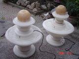 자연적인 중국 화강암 대리석 돌 3 옥외 정원 & Landcaping를 위한 층층 물 공 샘