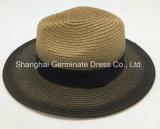 Sombrero natural de papel del sombrero de paja con la cinta (Sh018)