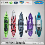 Одиночный двойник сидит на верхнем Kayak рыболовства оптовой продажи LLDPE пластичном