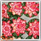 Flor de lótus de simulação artificial de 28 cm de diâmetro