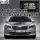 Casella Android di percorso di GPS GPS per interfaccia superba di Skoda la video