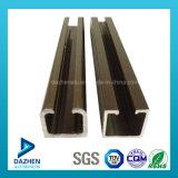 ينزلق أثر سكّة حديديّة ألومنيوم ألومنيوم 6063 [ت5] قطاع جانبيّ مع صنع وفقا لطلب الزّبون حجم لون