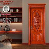 Porta de madeira maciça em madeira maciça / madeira madeira (GSP2-048)