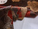 Rote und gelbe Blumen im dünnen Jacquardwebstuhl-Sofa-Gewebe
