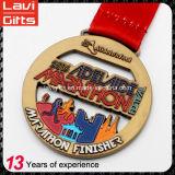 美しいカスタムタートルの形5k連続したメダル
