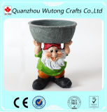 Изготовленный на заказ напольный бак завода цветка Gnomes смолаы украшения