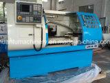 Máquina do torno do sistema CNC de Fanuc para o modelo de aço Ck6240