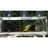 Janela de acrílico transparente inquebrável Alimentador de Pássaros