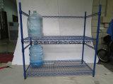 Регулируемый Epoxy Coated стеллаж для выставки товаров бутылки воды металла