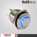 pulsante impermeabile dell'interruttore del metallo LED di 16mm