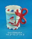 Tazza di caffè di ceramica decorativa di natale