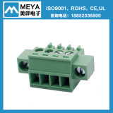 Grüner steckbarer Klemmenleiste-Verbinder (Abstand 3.5mm, 3.81mm, 5.0mm, 5.08mm, 7.5mm, 7.62mm)