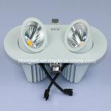 360 MAZORCA doble ajustable LED Downlight de la pista 2*9W del grado