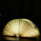 Kundenspezifisches dekoratives LED Buch-Licht der Firmenzeichen-faltendes Neuheit-mit USB-nachladbarer Funktion