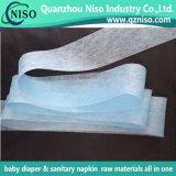 Nonwoven multicolore de flux de guide pour la couche-culotte de bébé et les garnitures remplaçables de soin de Feminie