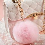 Sfera della pelliccia del coniglio di Keychain della sfera del soffio della pelliccia del Faux