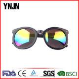 Lunettes de soleil rondes faites sur commande en verre de Ynjn Sun de mode élevée (YJ-6052)