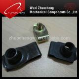 Plaqué zinc personnalisés écrous clip à ressort