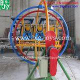 Giro umano del giroscopio del parco di divertimenti esterno