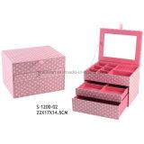 Rectángulo de joyería cosmético de la caja de la joyería de la belleza del nuevo regalo del diseño
