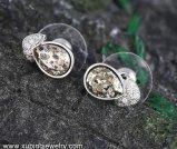 Swarovski 보석에서 결정을%s 가진 92933의 형식 눈 지르콘 보석 귀걸이 장식 못