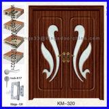 고품질 MDF PVC 나무로 되는 룸 또는 목욕탕 문