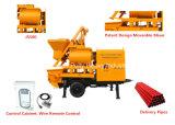 Zufuhrbehälter-Kapazität der Riemenscheiben-Fertigung-800L für Dorf, Straße, Brücken-Tunnel-Aufbau-Schlussteil-Betonpumpe mit Mischer