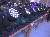 19*12W RGBW 4in1の多色刷りのズームレンズLEDの移動ヘッドビームLED移動ヘッドライト