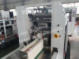 Saco de papel do alimento que faz a máquina com impressão em linha