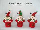 Decorazione Santa di natale e cappello Gift-2sst del pupazzo di neve