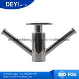 Válvula sanitária da amostra do trevo do aço inoxidável tri