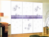 Silk Bildschirm gedruckte Hartglas-Schiebetür mit Qualität