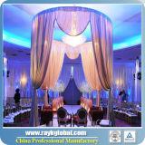 結婚披露宴のイベントの結婚式の背景幕の装飾を配管し、おおいなさい