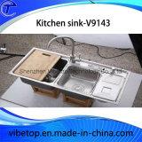 Fabricante profesional de acero inoxidable fregadero de la cocina
