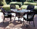 4-6 a tabela de jantar de vime do jardim clássico de Seaters ajusta Wf050029