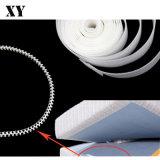 De ruwe Zwarte/Witte Nylon Band van het Bevestigingsmiddel van de Klitband van de Haak van de Injectie