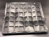 長方形プラスチックESDの皿、電子のために包む帯電防止まめ
