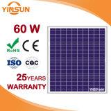 Panneau solaire polycristallin 60 W pour système d'alimentation solaire d'accueil