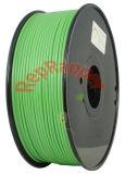 Verde de flexible de 3,0 mm de filamento de impresión 3D para la impresora 3D.