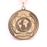 昇進3Dの真鍮のスポーツのテニスメダル