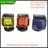 preço do competidor da luz do trabalho do diodo emissor de luz do caminhão 3inch 3 da garantia anos de luz de trabalho do diodo emissor de luz para os caminhões E-MARK R10, R23 ECE