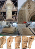 Máquina de madera del ranurador del CNC para el 2.o grabado 3D y moler