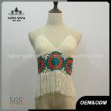 Ladies Fringed Halter Crochet Plus Size Bathing Suit