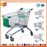 금속 아연 또는 크롬 상점 슈퍼마켓 쇼핑 트롤리 손수레 (Zht76)